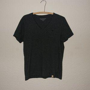 TRUE RELIGION Men's Gray Short Sleeve V-Neck Tee M